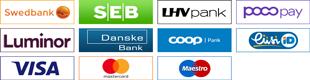 Maksa pangalingi või krediitkaardiga